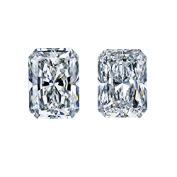 elongated radiant cut diamond side stones matching pair leon mege