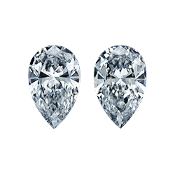 pear shape diamond pair side stones leon mege
