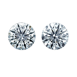 heart shape leon mege side stones diamonds matching pairs three stone engagement