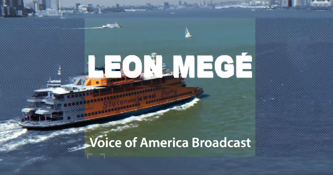 Leon Mege at Voice of America broadcast